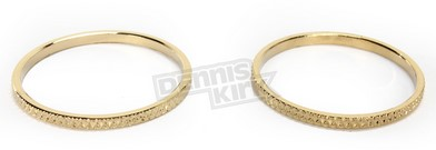 CYCLE-PARTS KURYAKYN 6223, #6223; 6223 GOLD TRIM RINGS FOR ISO GRIPS-SET