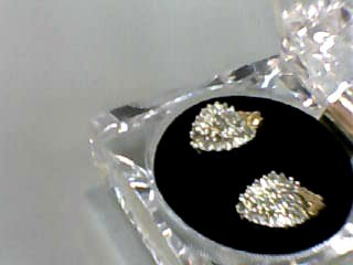 Gold-Diamond Earrings 58 Diamonds .92 Carat T.W. 10K Yellow Gold 3.1dwt