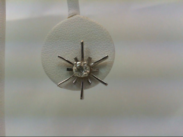 Gold-Diamond Earrings 2 Diamonds .50 Carat T.W. 14K White Gold 2g