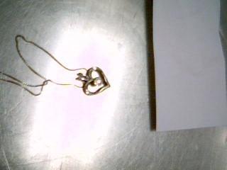 "20"" Diamond Necklace 9 Diamonds .12 Carat T.W. 925 Silver 2.9g"