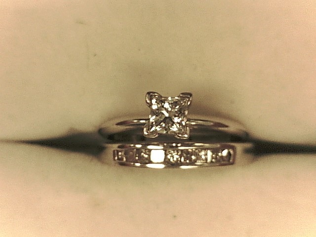 Lady's Diamond Wedding Set 10 Diamonds .56 Carat T.W. 14K White Gold 3.2dwt