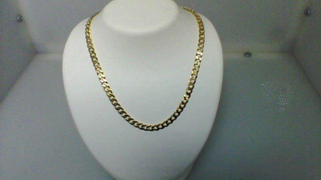 """16"""" Gold curb Link Chain 14K Yellow Gold 11.8g"""