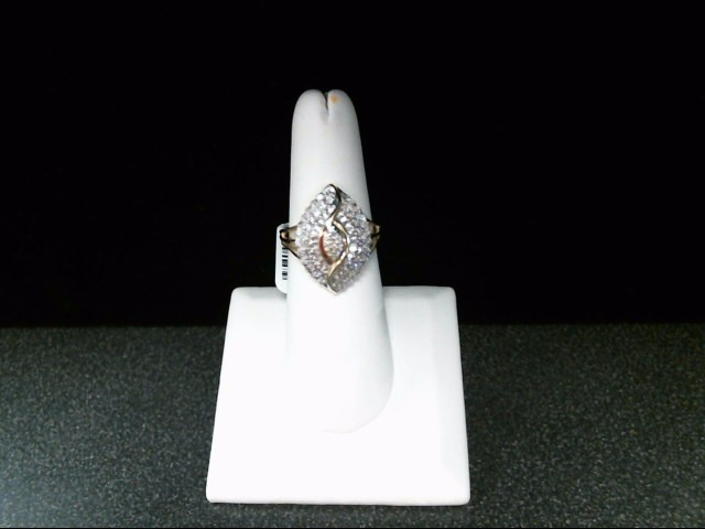 Lady's Diamond Cluster Ring 79 Diamonds .505 Carat T.W. 10K Yellow Gold 4g