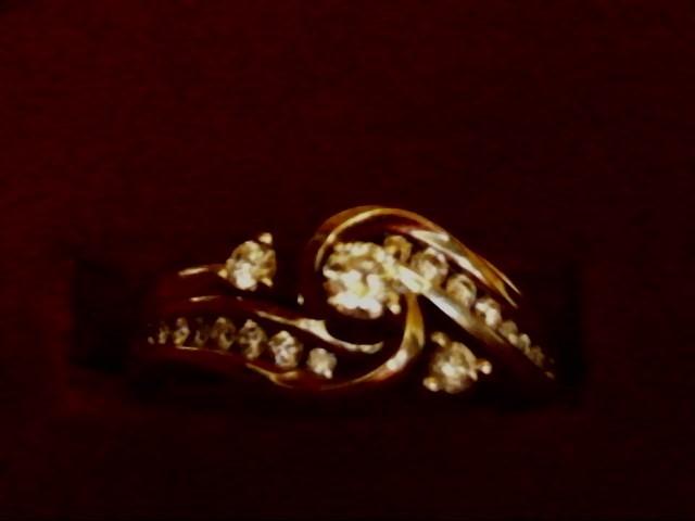 Lady's Diamond Wedding Set 19 Diamonds .54 Carat T.W. 14K White Gold 4.6dwt