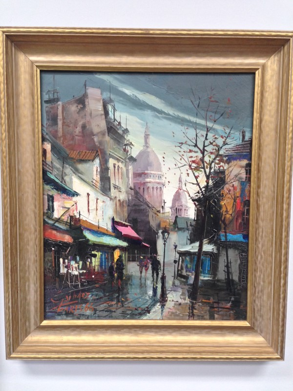OIL PAINTING SACRE COEUR ON THE HILL OF MONTMARTRE
