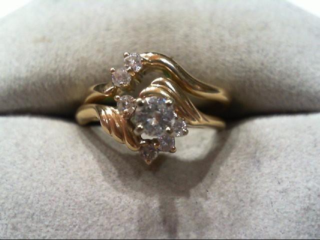Lady's Diamond Wedding Set 7 Diamonds .36 Carat T.W. 14K Yellow Gold 3.9g
