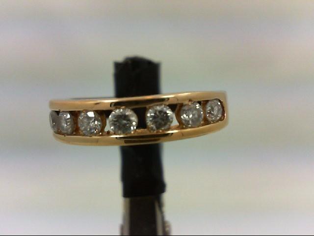Lady's Diamond Wedding Band 8 Diamonds 0.56 Carat T.W. 14K Yellow Gold 2.6g Size