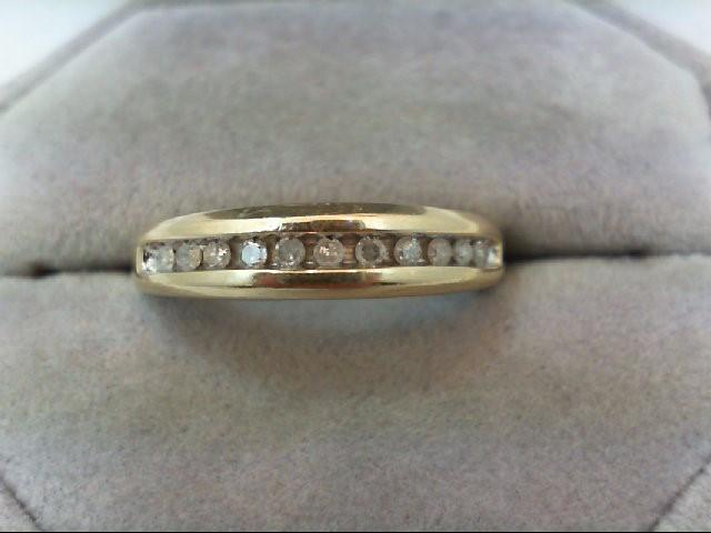 Lady's Diamond Wedding Band 11 Diamonds .33 Carat T.W. 10K Yellow Gold 2.5g