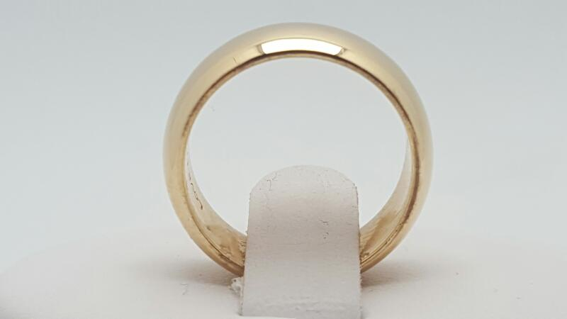 Lady's Gold Wedding Band 14K Yellow Gold 6.9g Size:5