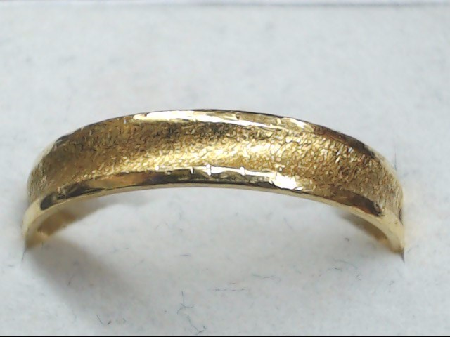 Gent's Gold Wedding Band 10K Yellow Gold 4.1g Size:10.5