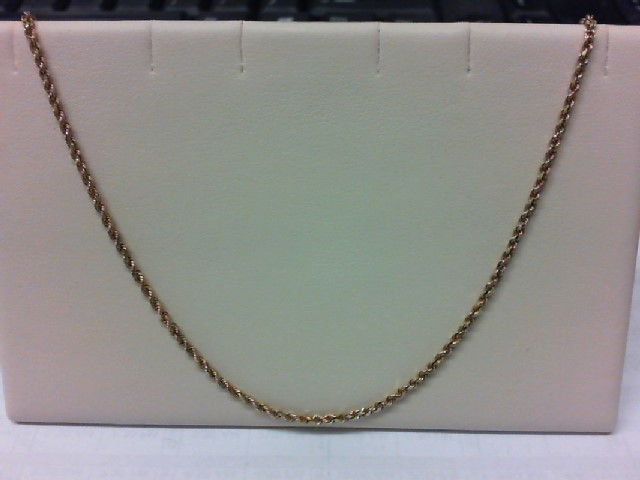 """20"""" Gold Rope Chain 14K Yellow Gold 5.8g"""