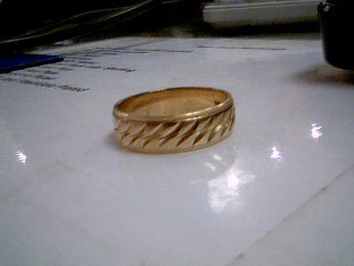 Gent's Gold Wedding Band 14K Yellow Gold 5.8g Size:9