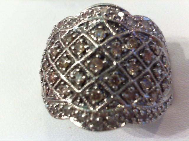 Lady's Diamond Cluster Ring 55 Diamonds .55 Carat T.W. 10K White Gold 7.8g
