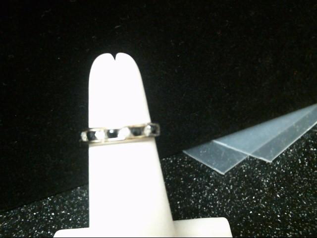 Blue Stone Lady's Stone & Diamond Ring 5 Diamonds .15 Carat T.W. 14K White Gold