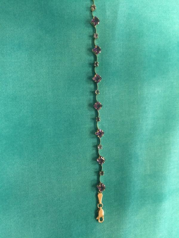 Yellow Stone Gold-Stone Bracelet 14K Yellow Gold 3.2dwt