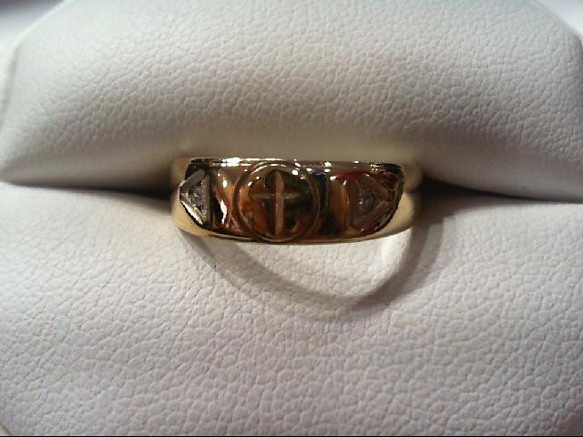 Lady's Diamond Wedding Band 2 Diamonds .02 Carat T.W. 10K Yellow Gold 2.4g