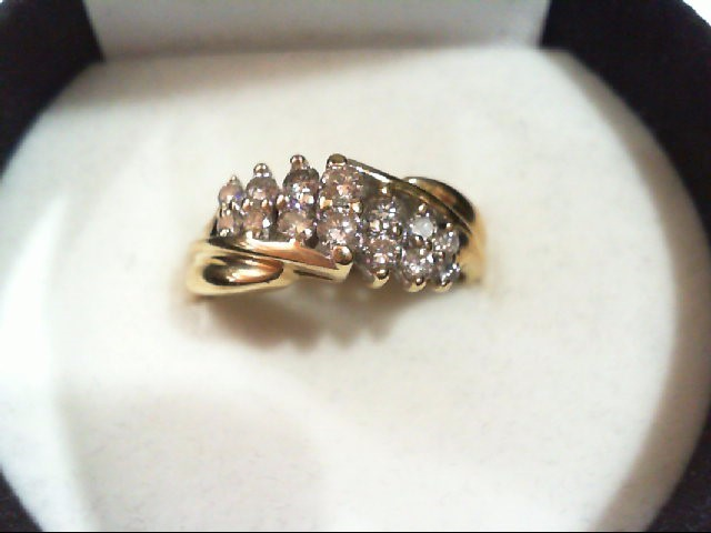Lady's Diamond Cluster Ring 14 Diamonds .52 Carat T.W. 14K Yellow Gold 3.4g