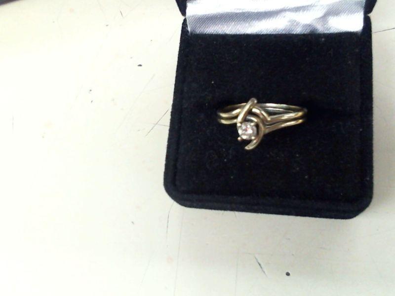 Lady's Diamond Wedding Set .10 CT. 14K White Gold 3.3g