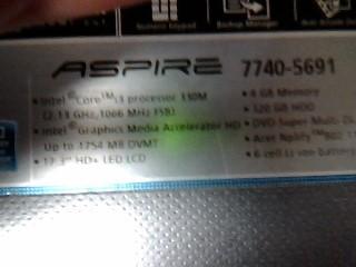 ACER Laptop/Netbook ASPIRE 7740