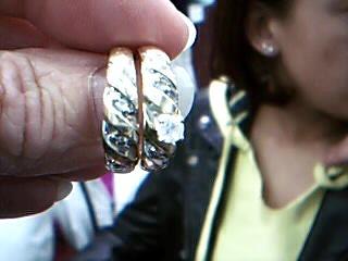 Lady's Diamond Wedding Set 6 Diamonds .20 Carat T.W. 14K Yellow Gold 7.53g