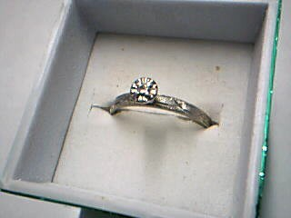 Lady's Diamond Engagement Ring .05 CT. 14K White Gold 1.49g