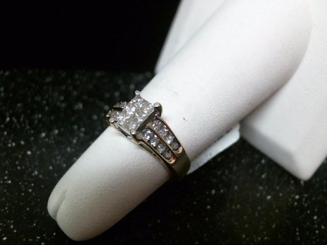 Lady's Gold-Diamond Anniversary Ring 22 Diamonds .62 Carat T.W. 14K Yellow Gold