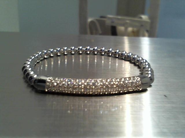 Gold Bracelet 14K White Gold 9.8g