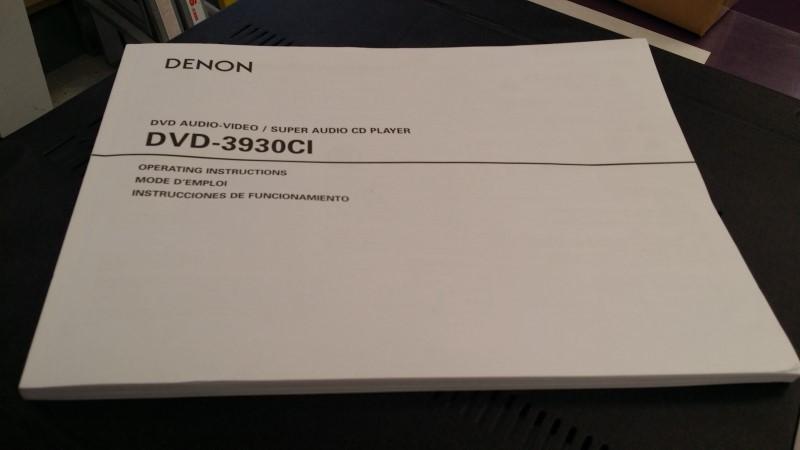 DENON DVD-3930CI DVD AUDIO-VIDEO / SUPER AUDIO CD PLAYER