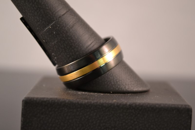 Gent's Ring Black Stainless 9.4g