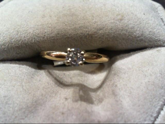 Lady's Diamond Engagement Ring .17 CT. 14K Yellow Gold 1.2g