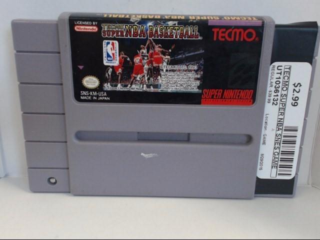 NINTENDO SNES SUPER TECMO NBA BASKETBALL *CARTRIDGE ONLY*