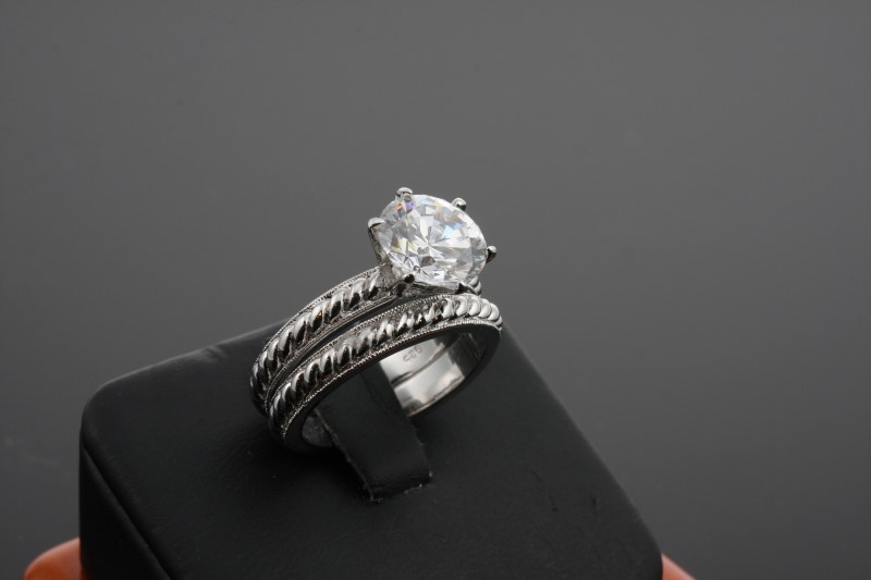 Lady's Silver Ring 925 Silver 10.47g Size:7.5