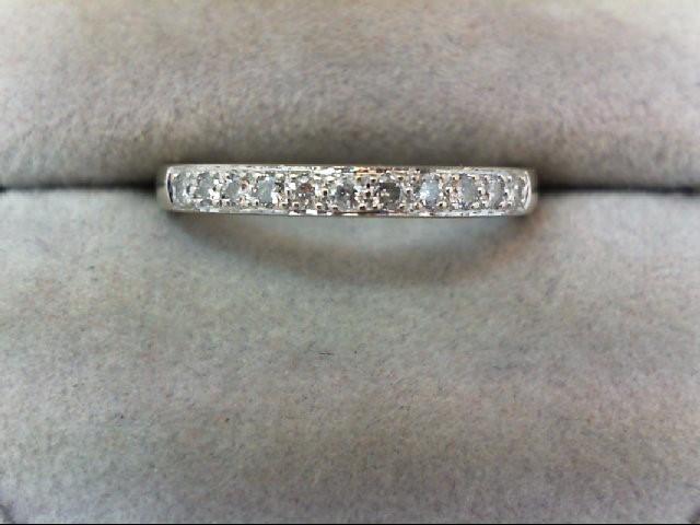 Lady's Diamond Wedding Band 11 Diamonds .22 Carat T.W. 14K White Gold 2.2g