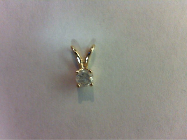 Gold-Diamond Solitaire Pendant 0.1 CT. 14K Yellow Gold 0.1g