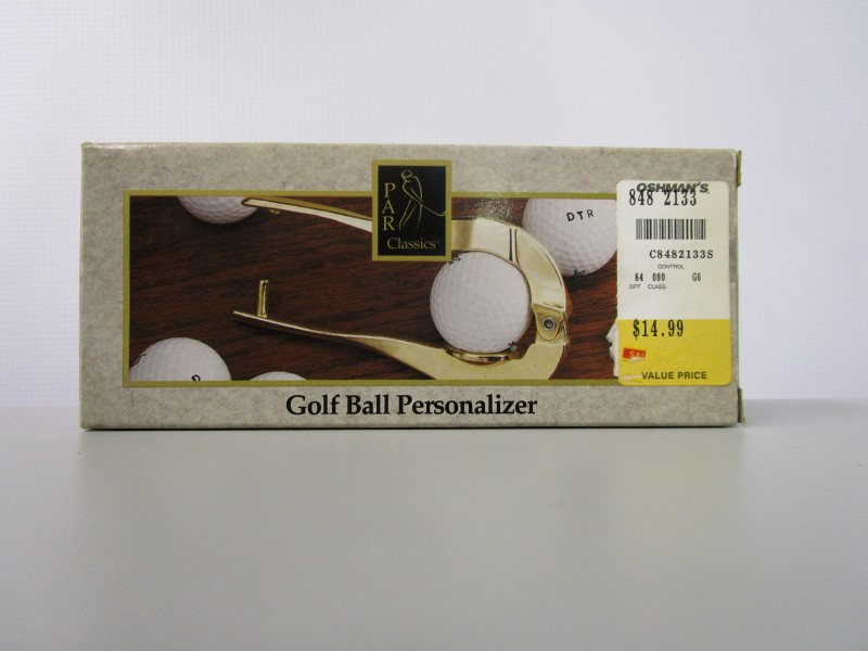GOLF BALL PERSONALIZER, USED