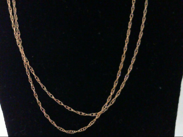 """18"""" Gold Rope Chain 14K Yellow Gold 0.5g"""
