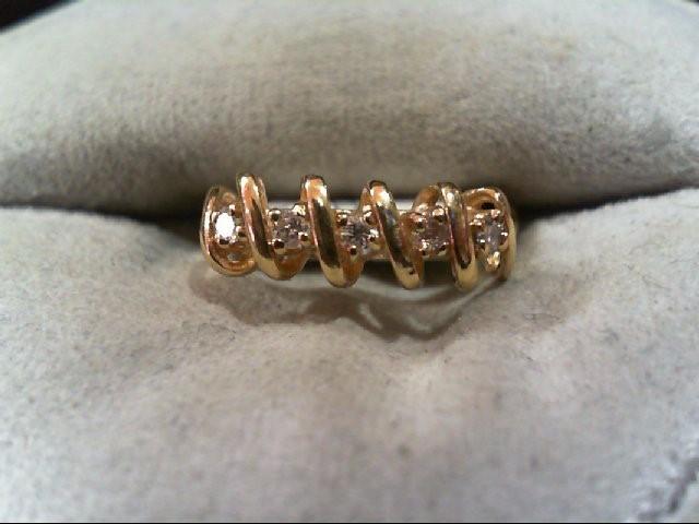 Lady's Diamond Wedding Band 5 Diamonds .15 Carat T.W. 14K Yellow Gold 1.8g