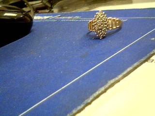 Lady's Diamond Cluster Ring 63 Diamonds .96 Carat T.W. 10K Yellow Gold 4.8g