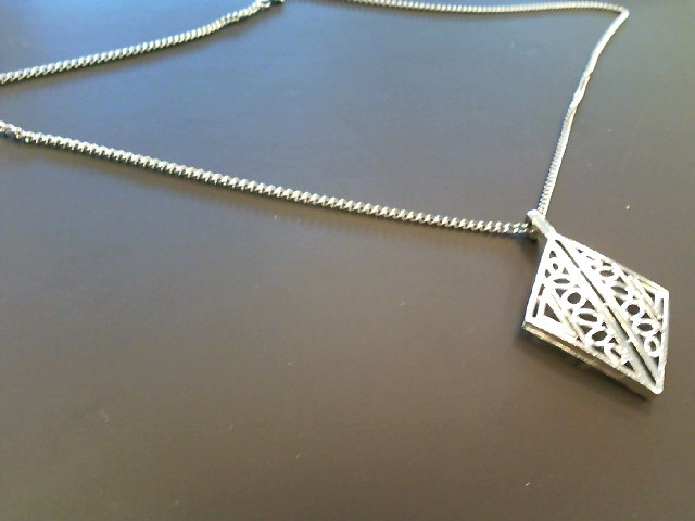 """13"""" Necklace/Pendant Silver Stainless 17g"""