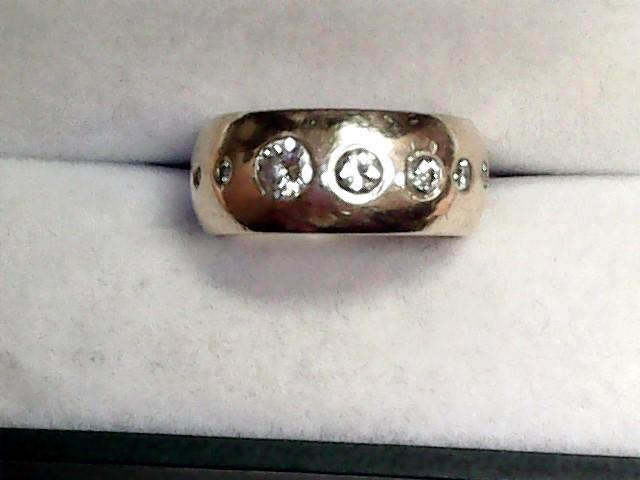 Lady's Diamond Wedding Band 16 Diamonds .78 Carat T.W. 14K Yellow Gold 9.7dwt