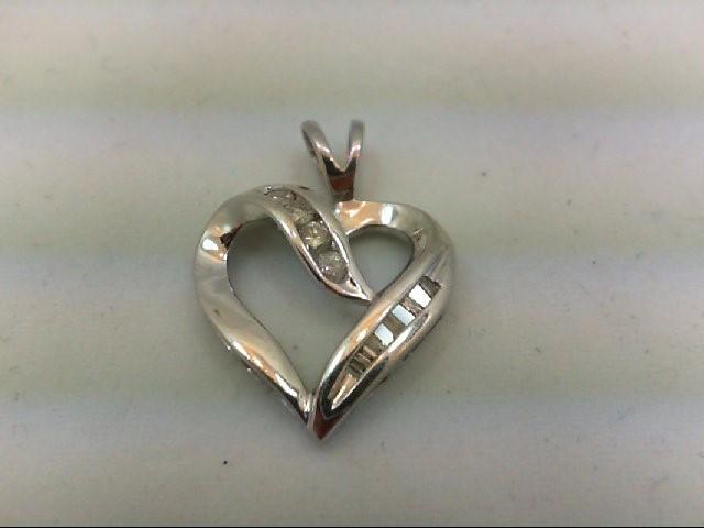 Gold-Multi-Diamond Pendant 11 Diamonds 0.27 Carat T.W. 10K White Gold 2.1g