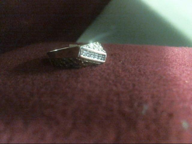 Gent's Diamond Fashion Ring 5 Diamonds .05 Carat T.W. 10K Yellow Gold 3.7dwt