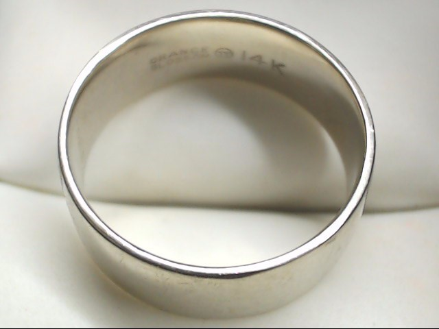 Lady's Gold Wedding Band 14K White Gold 6.9g Size:9