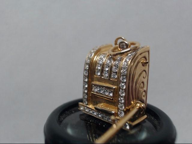 Gold-Multi-Diamond Pendant 55 Diamonds .55 Carat T.W. 18K Yellow Gold 8.14g