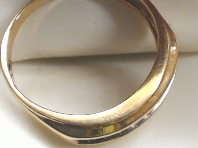 Gent's Gold-Diamond Wedding Band 9 Diamonds .45 Carat T.W. 10K Yellow Gold 3.3g