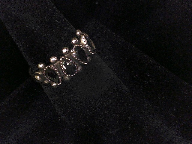 STERLING SILVER RING WITH MARKASITE