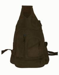 DEALER LEATHER L8; BROWN LEATHER SHOULDER BAG