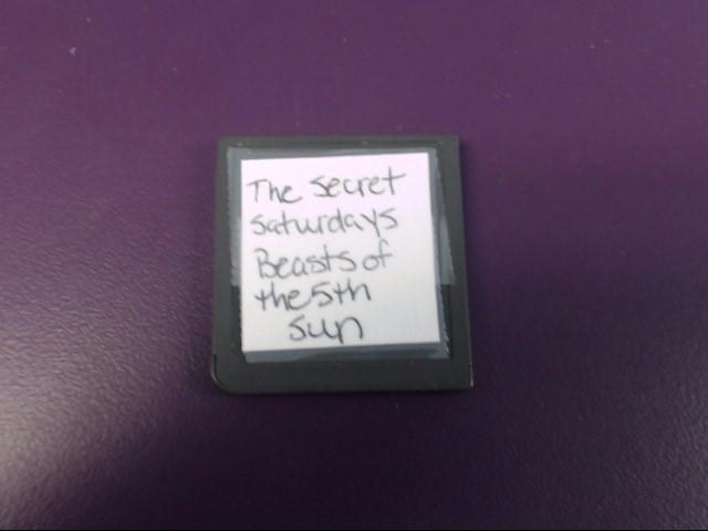 NINTENDO Nintendo DS THE SECRET SATURDAYS BEAST OF THE 5TH SUN