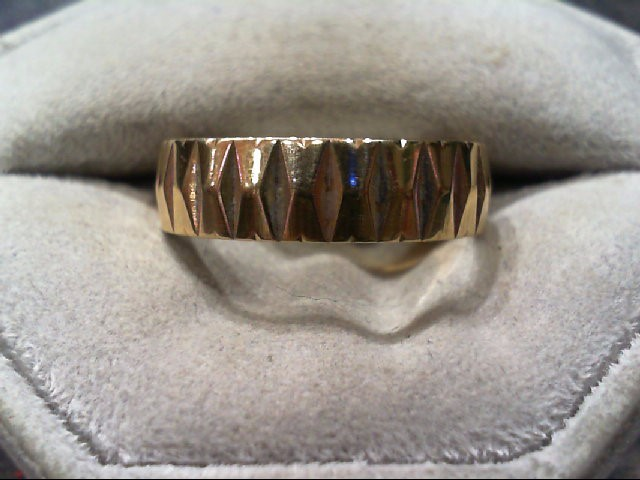 Gent's Gold Wedding Band 14K Yellow Gold 4.9g Size:9.5