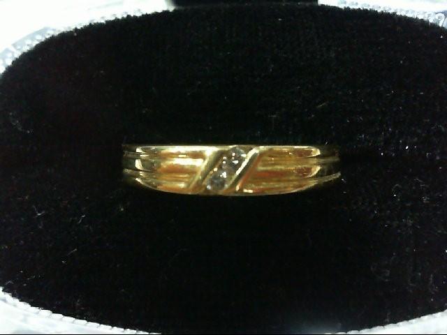 Lady's Diamond Wedding Band 2 Diamonds .04 Carat T.W. 14K Yellow Gold 3.1g